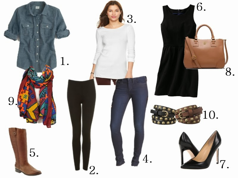 Top Ten things that you should have in your closet right now!