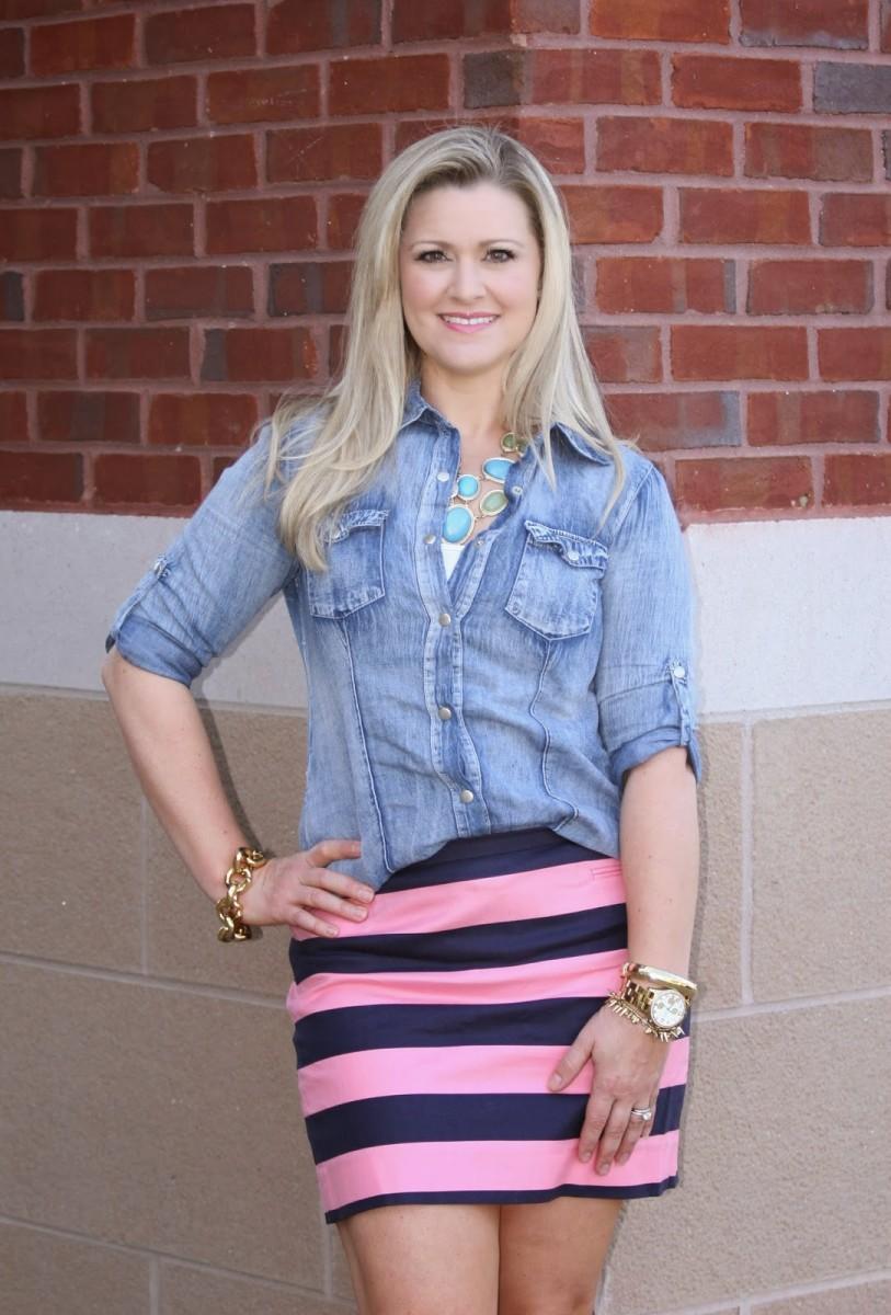 Pink Spring Stripes