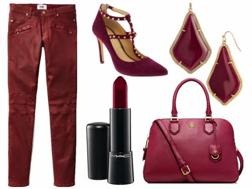 Burgundy pieces for Fall