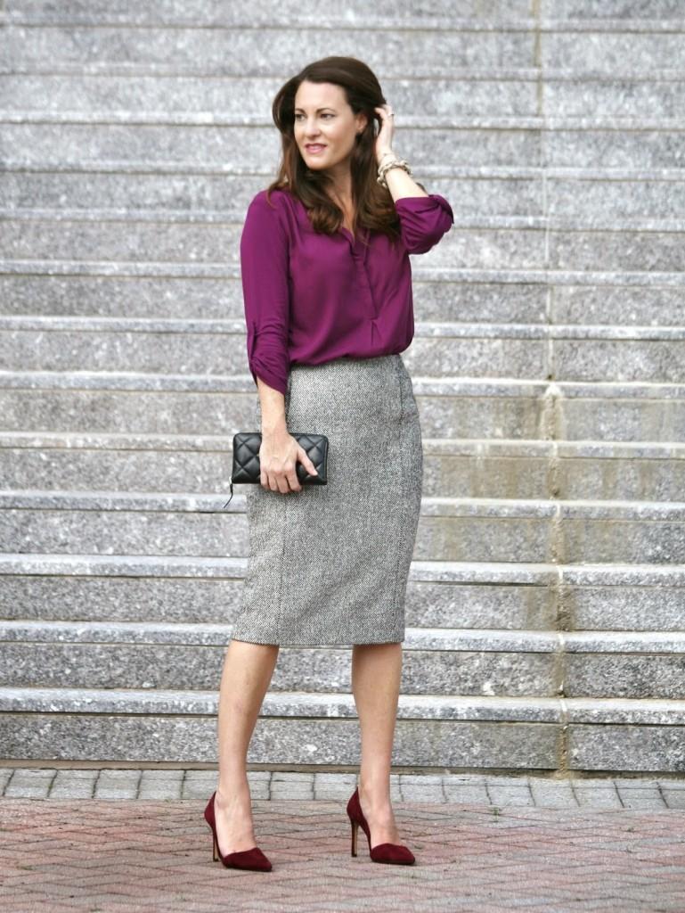 Tweed Pencil Skirt, Tweed skirt, tweed