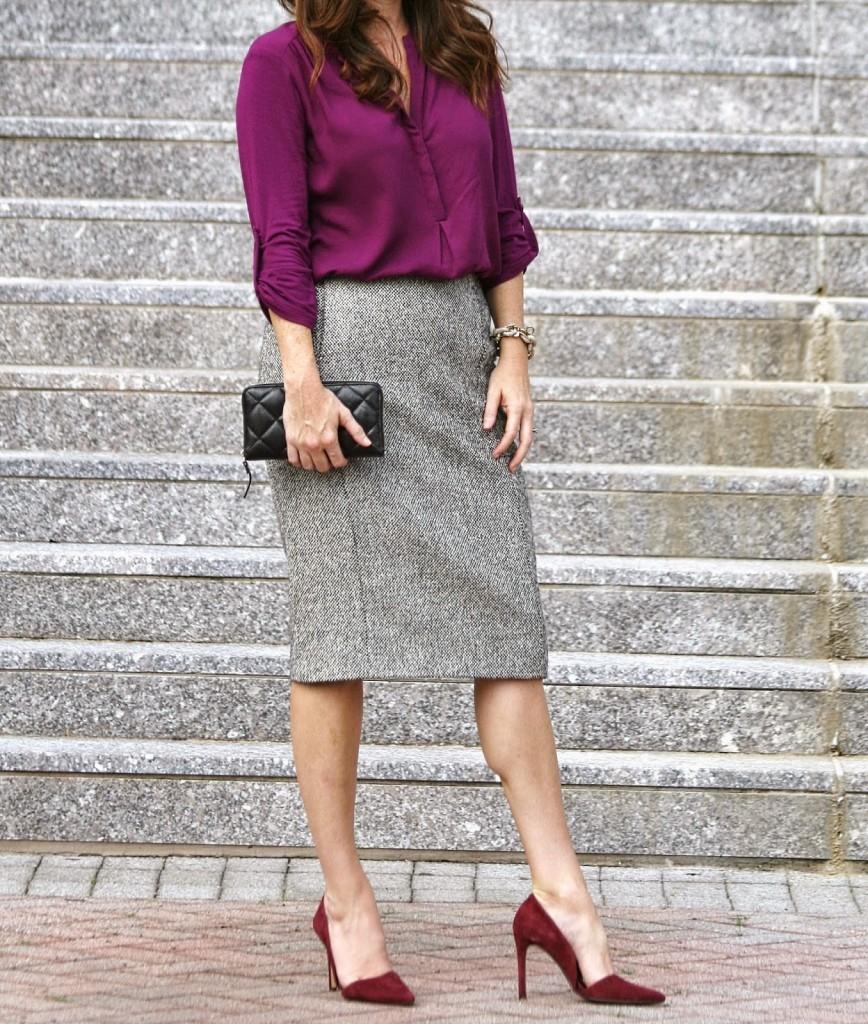 Banana Republic Adelia Pump, Burgundy heels, D'Orsay heels