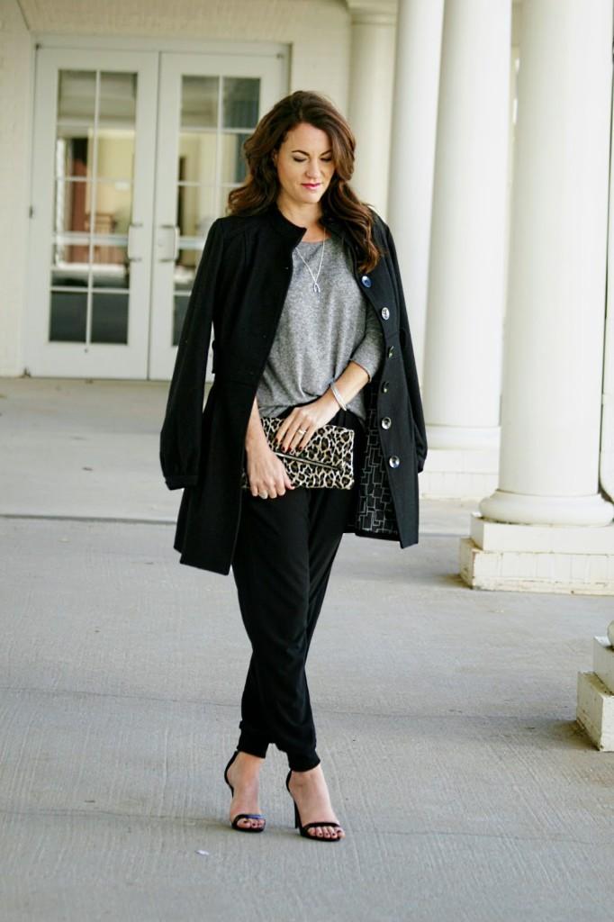 Black Wool Coat, Dressy Winter Outfit