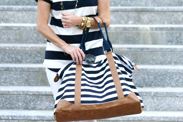 Striped-weekender-bag