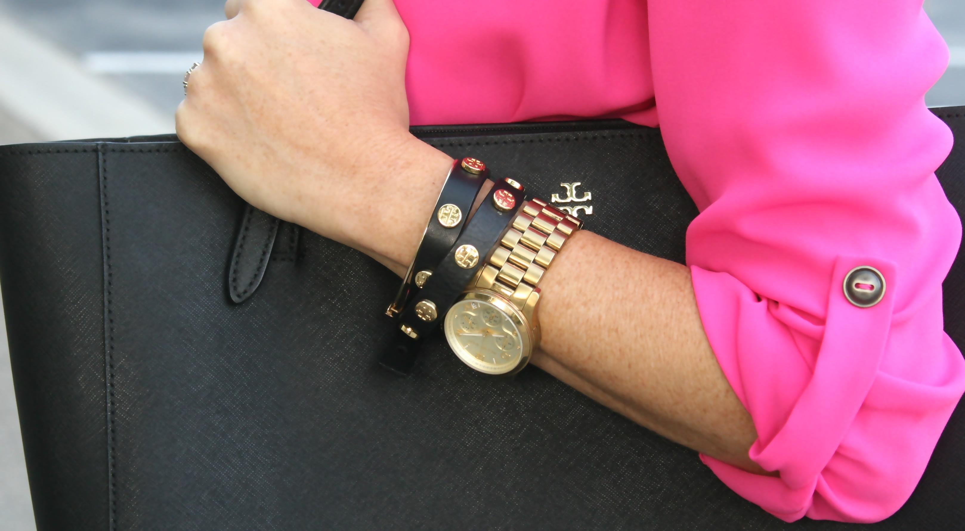 Tory Burch Double Wrap Leather Bracelet Medical Id Bracelets