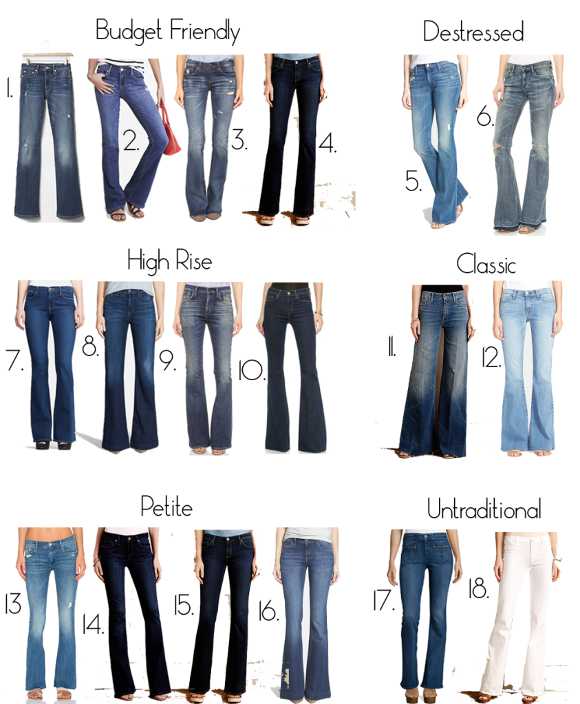 how to choose the best flare jeans