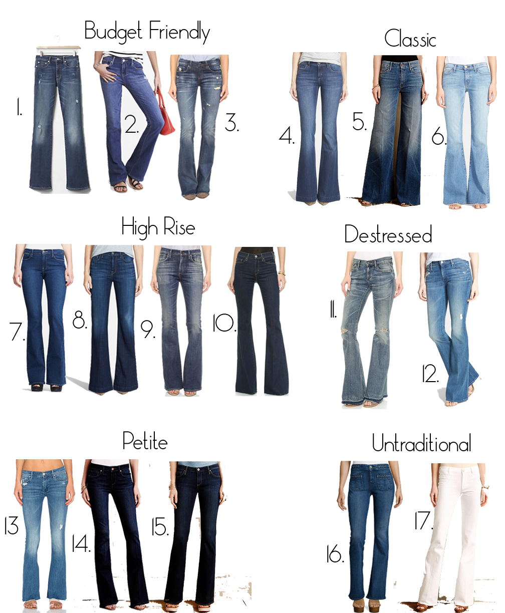 choosing the best flare jeans