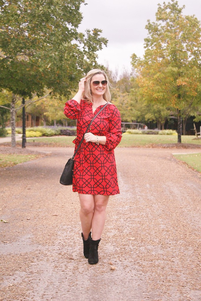 mudpie red and black dress
