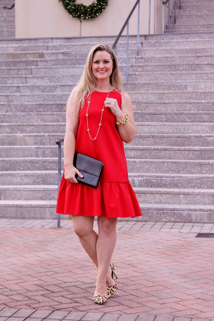 Red dress and shoes closet