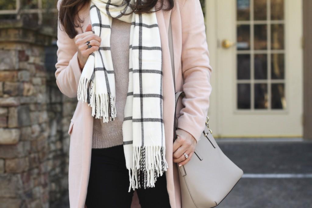 Kate Spade New York handbag in clocktower.  The perfect winter neutral bag.