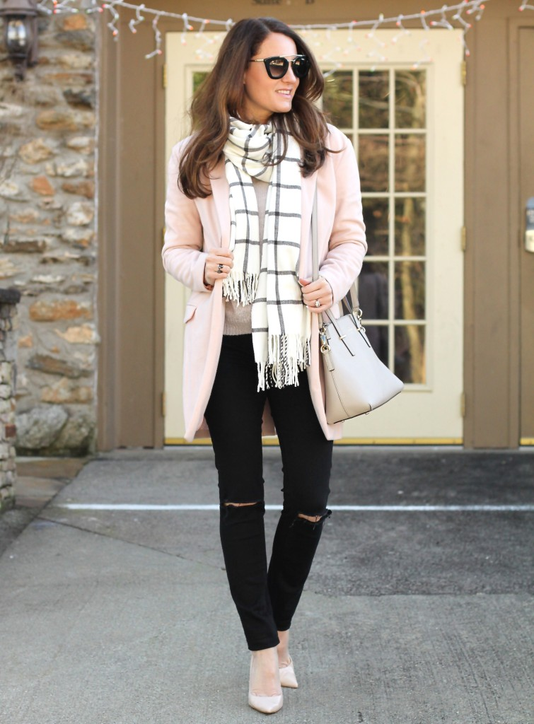 7c8787940be Pink Sweater outfit idea on Peaches In A Pod blog.
