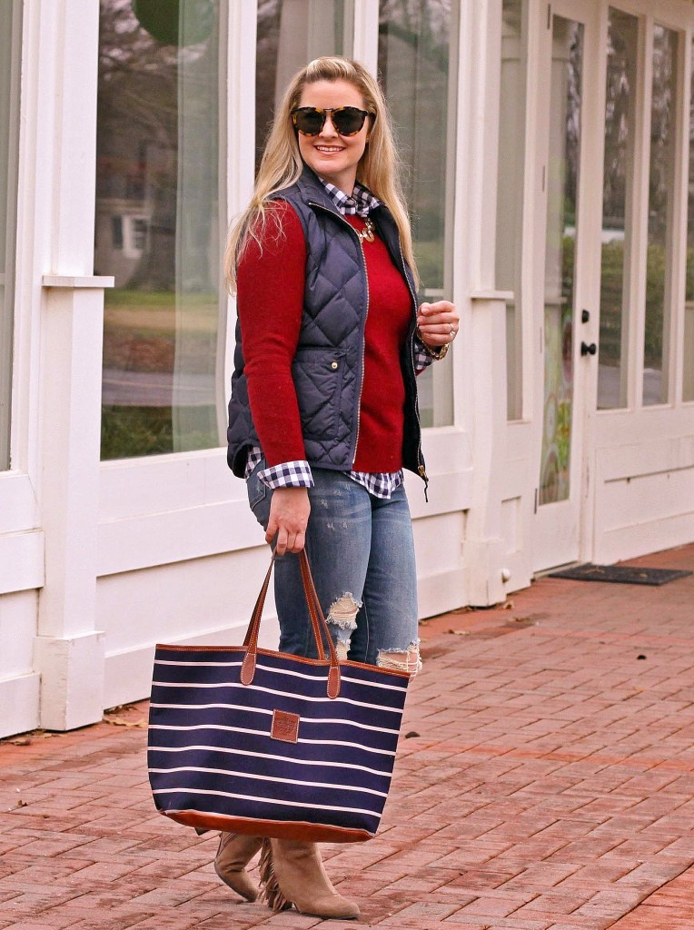 how to layer a vest