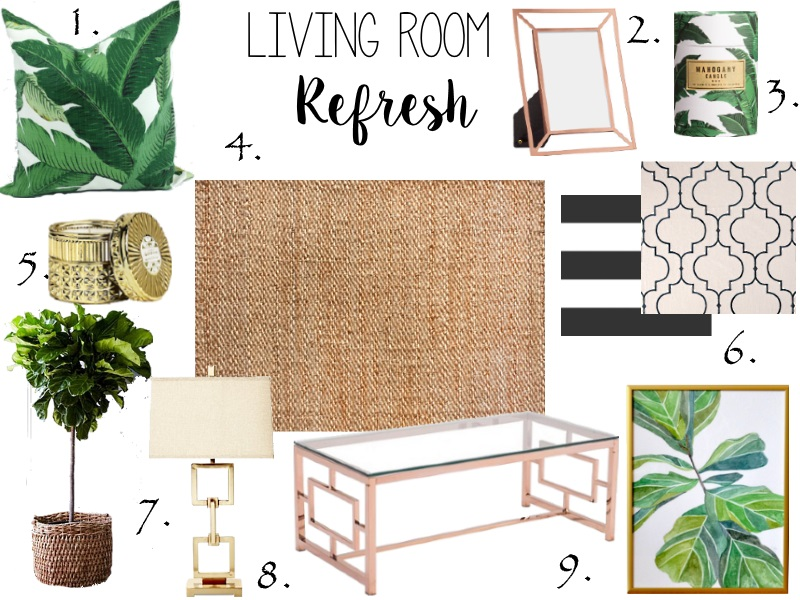 Palm print Living room decor
