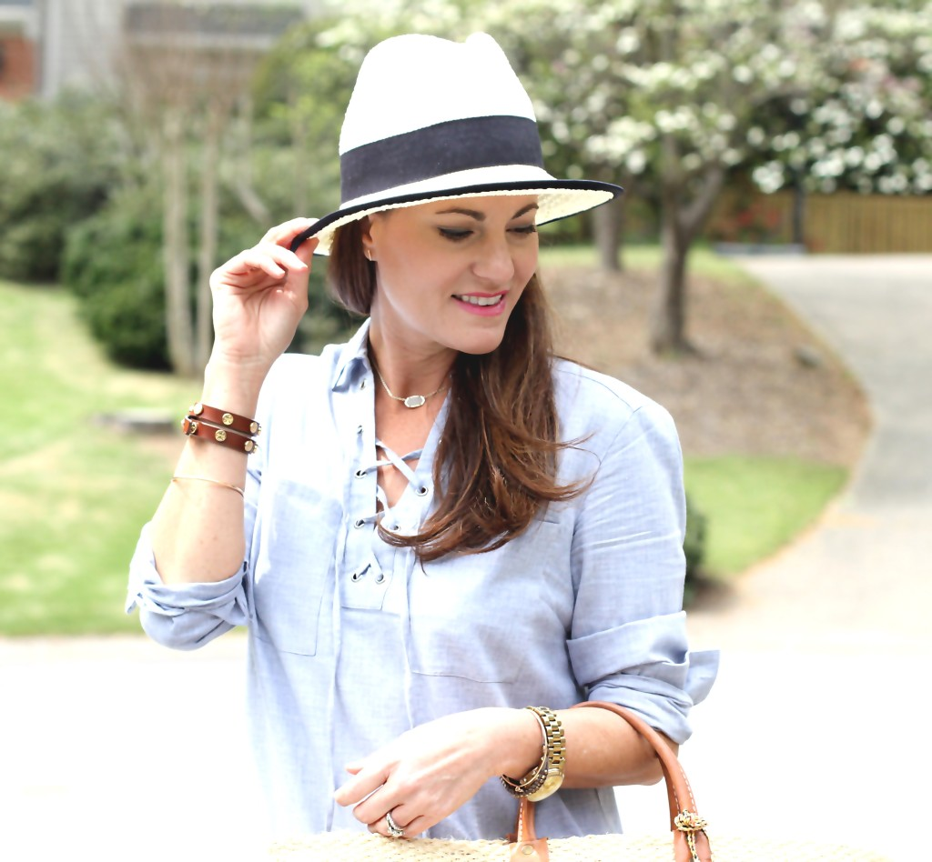 Cute Panama Hat perfect for spring and summer via Peaches In A Pod blog.