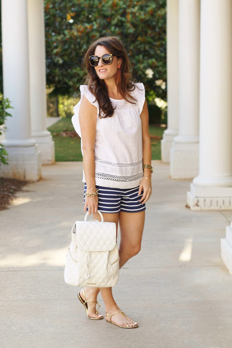 Cute and casual summer outfit idea on Peaches In A Pod blog.
