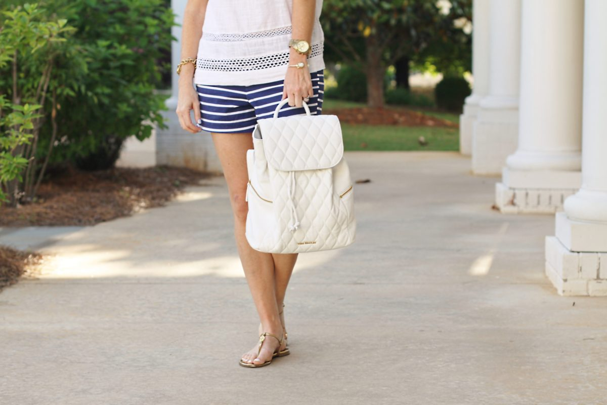Vera Bradley quilted Amy Backpack via Peaches In A Pod blog. Great summer vacation bag.