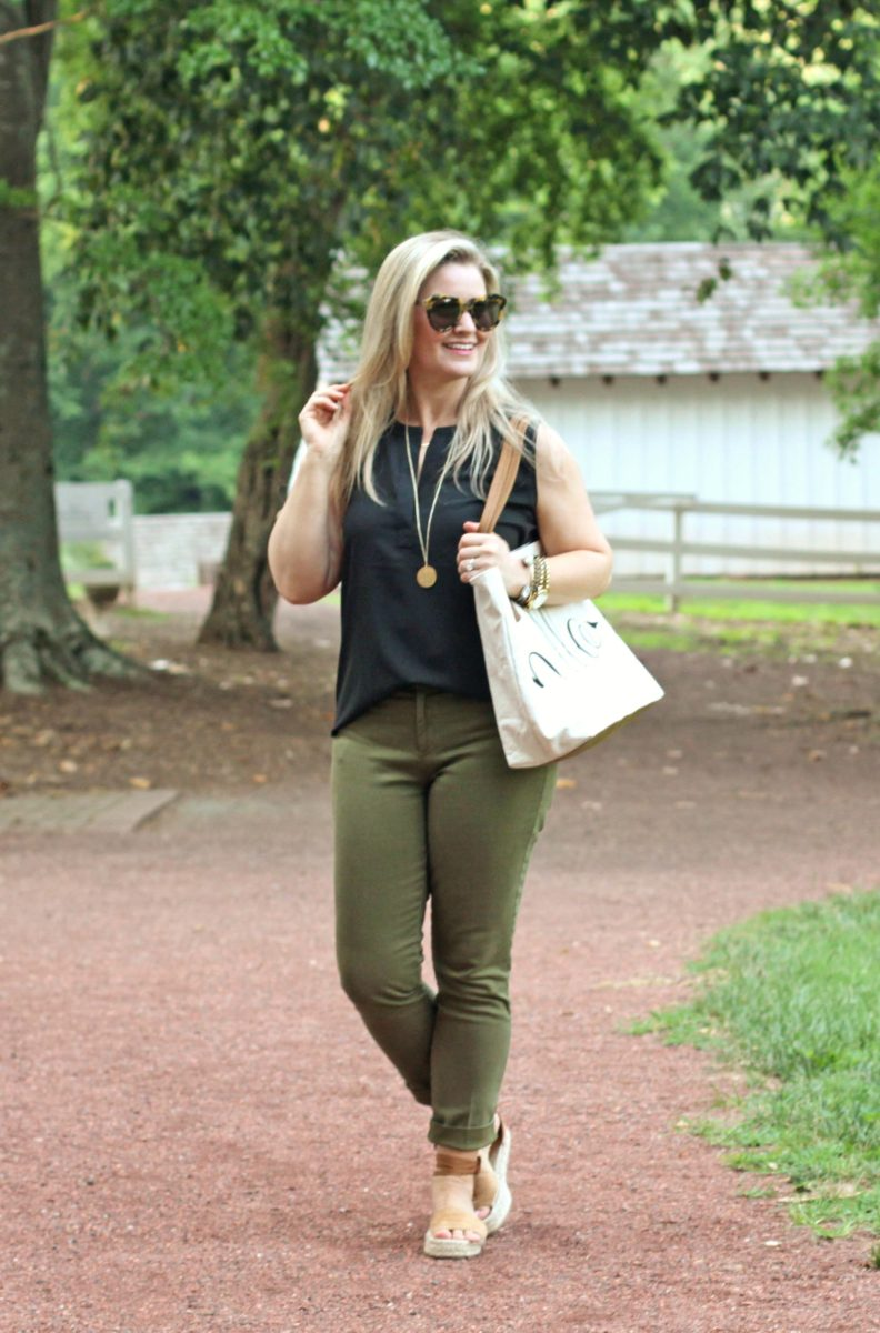how to style olive pants