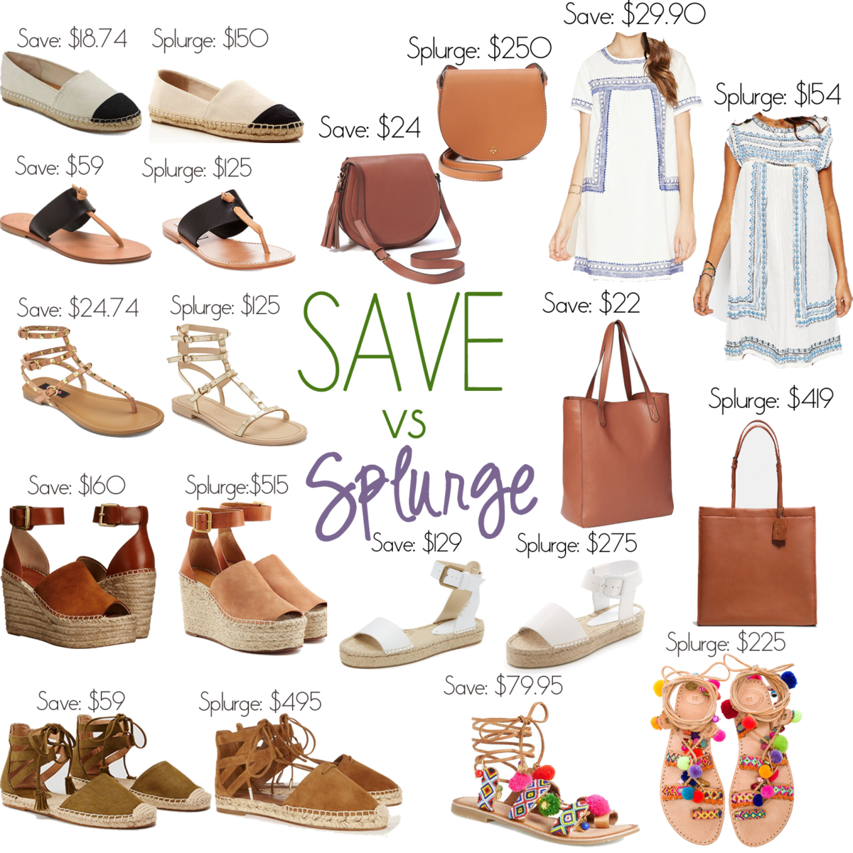 c8e8cca88 Save vs. Splurge Summer Must Haves for any budget