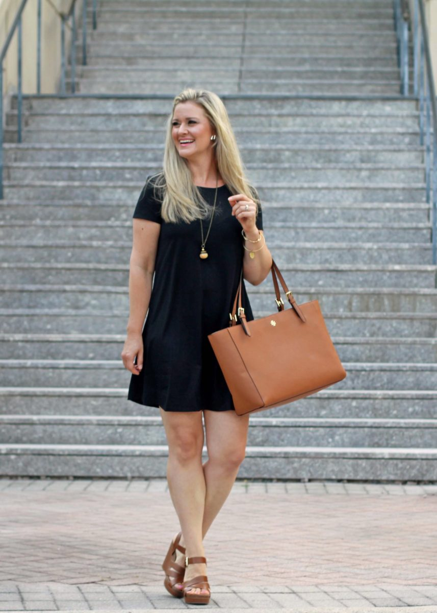 How To Style A Casual Black T Shirt Dress For Summer