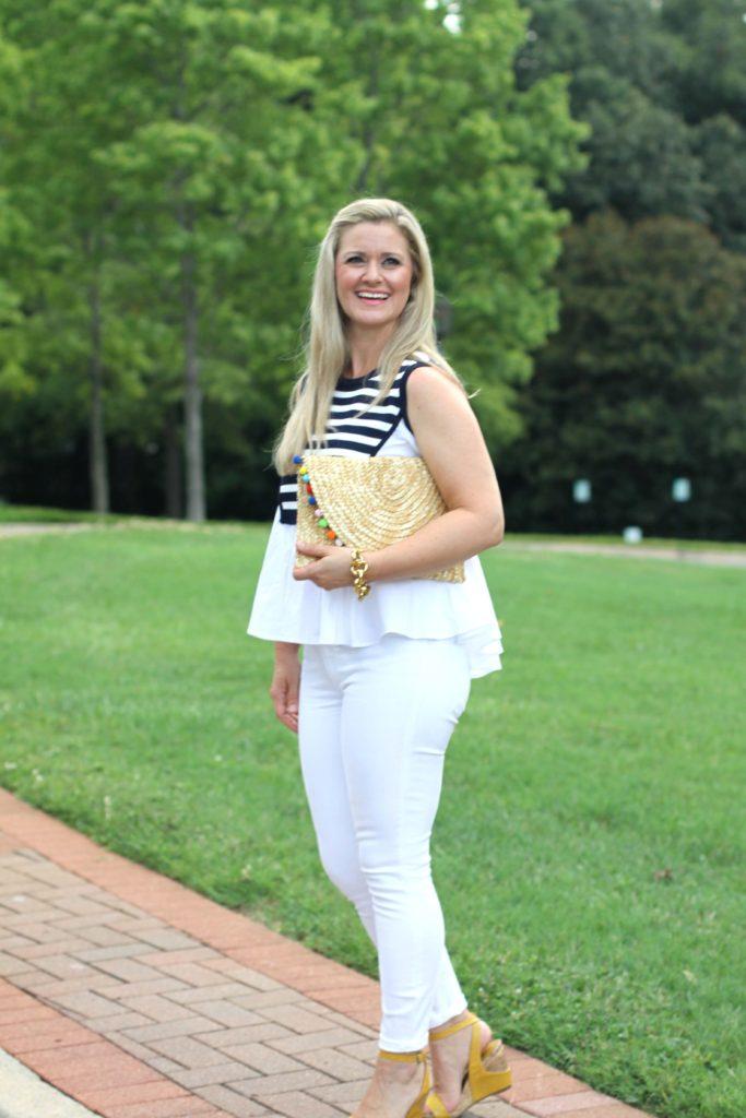 90b9fcae191d Cute summer white jeans outfit