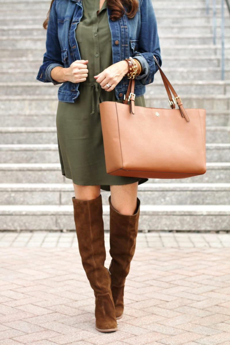 How to wear the over the knee boot style for fall on Peaches In A Pod blog.