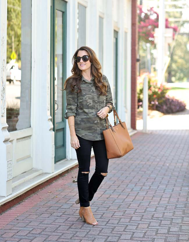 Camouflage Shirt Outfit Idea