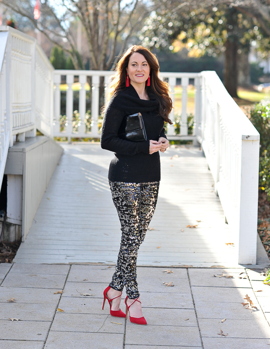 how-to-wear-sequin-leggings