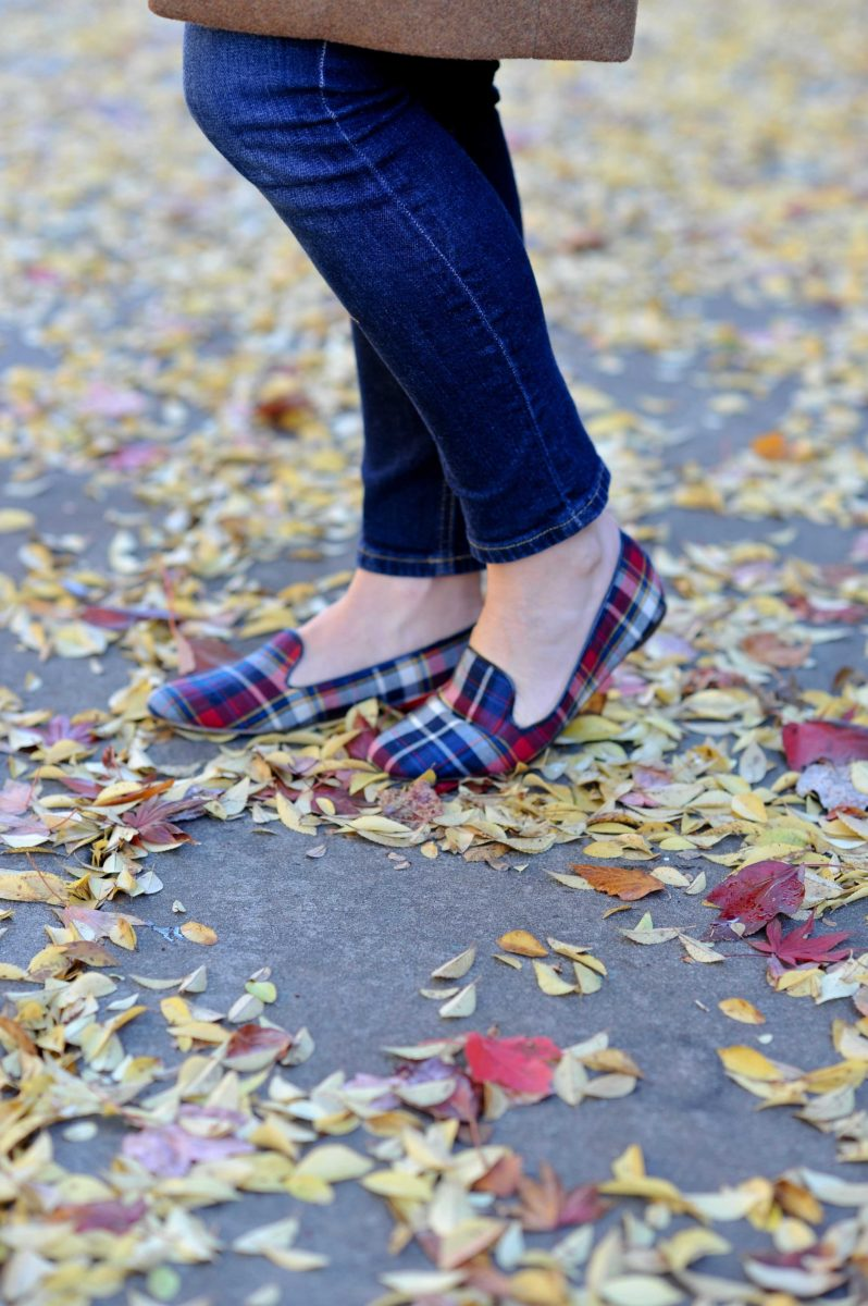 The perfect pair of plaid flats.