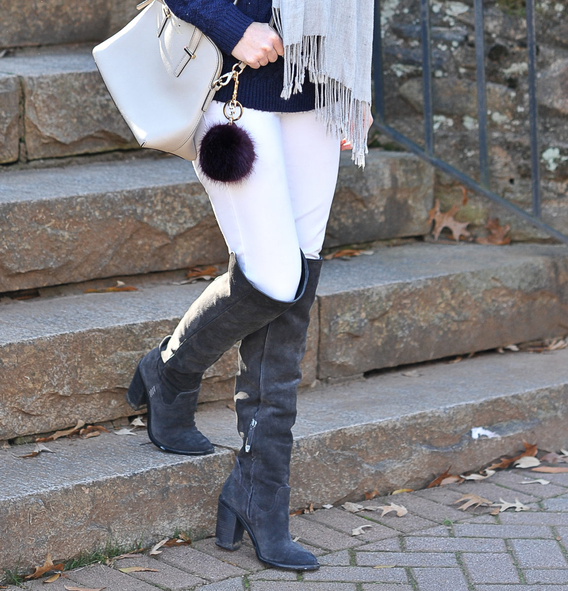 Gray-over-the-knee-boots