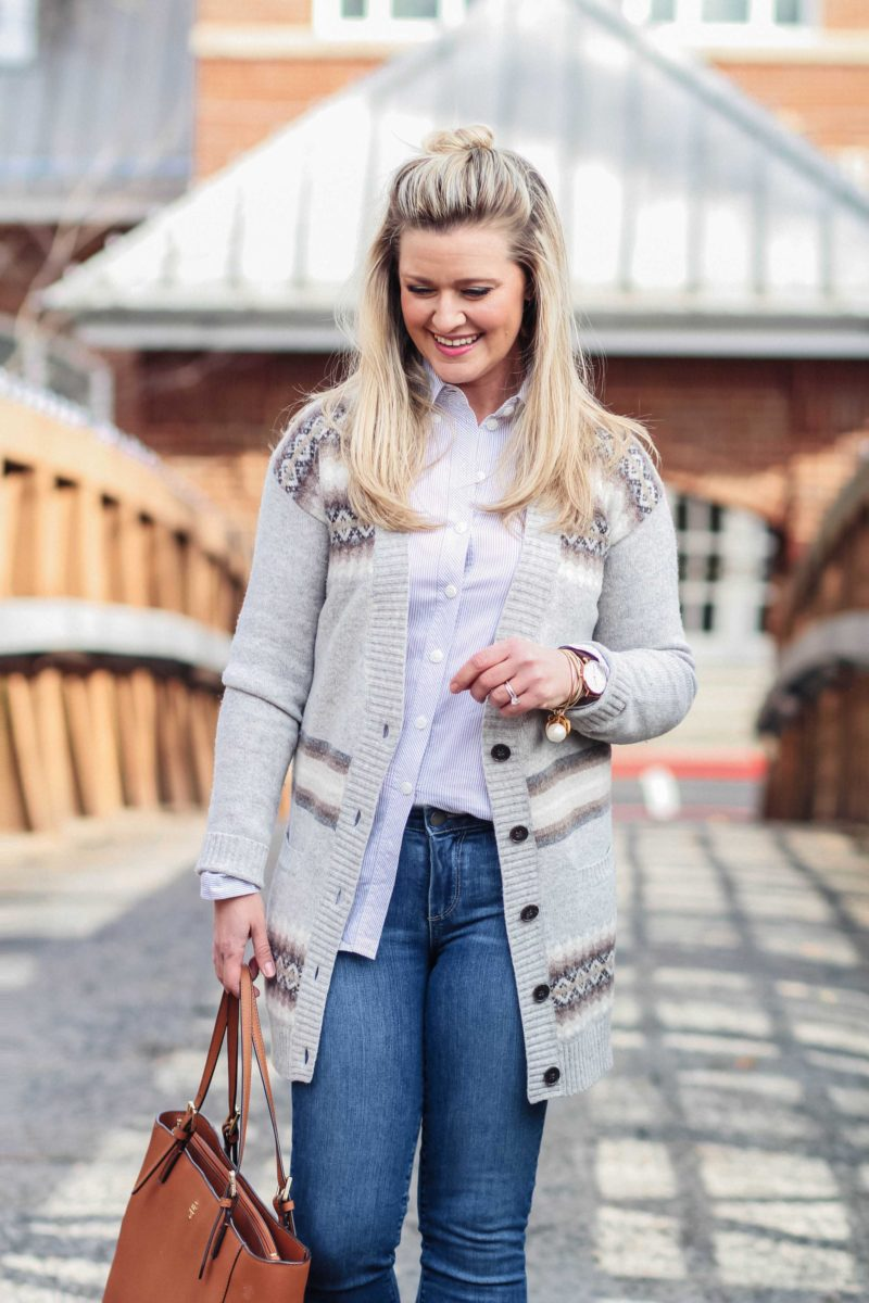 How to style fair isles sweater to create a great winter outfit.