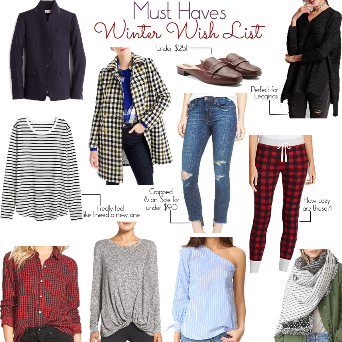 Peaches in a Pod breaks down the best winter wish list which includes items like loafer mules and oversized sweaters