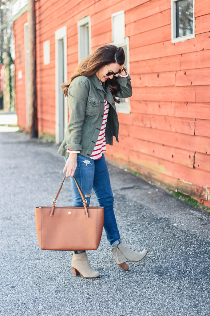 What we are wearing this spring via Peaches In A Pod blog.