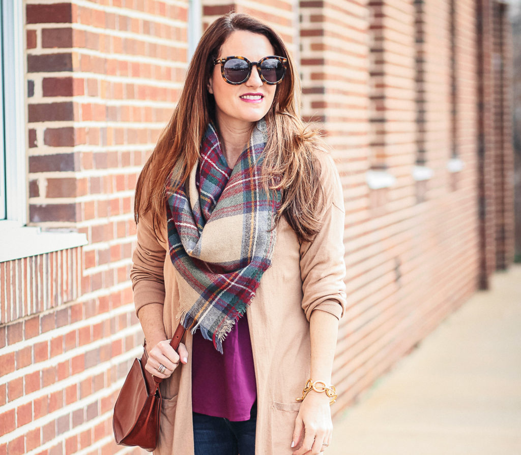 Oversized blanket scarf via Peaches In A Pod blog. Women's Scarves.