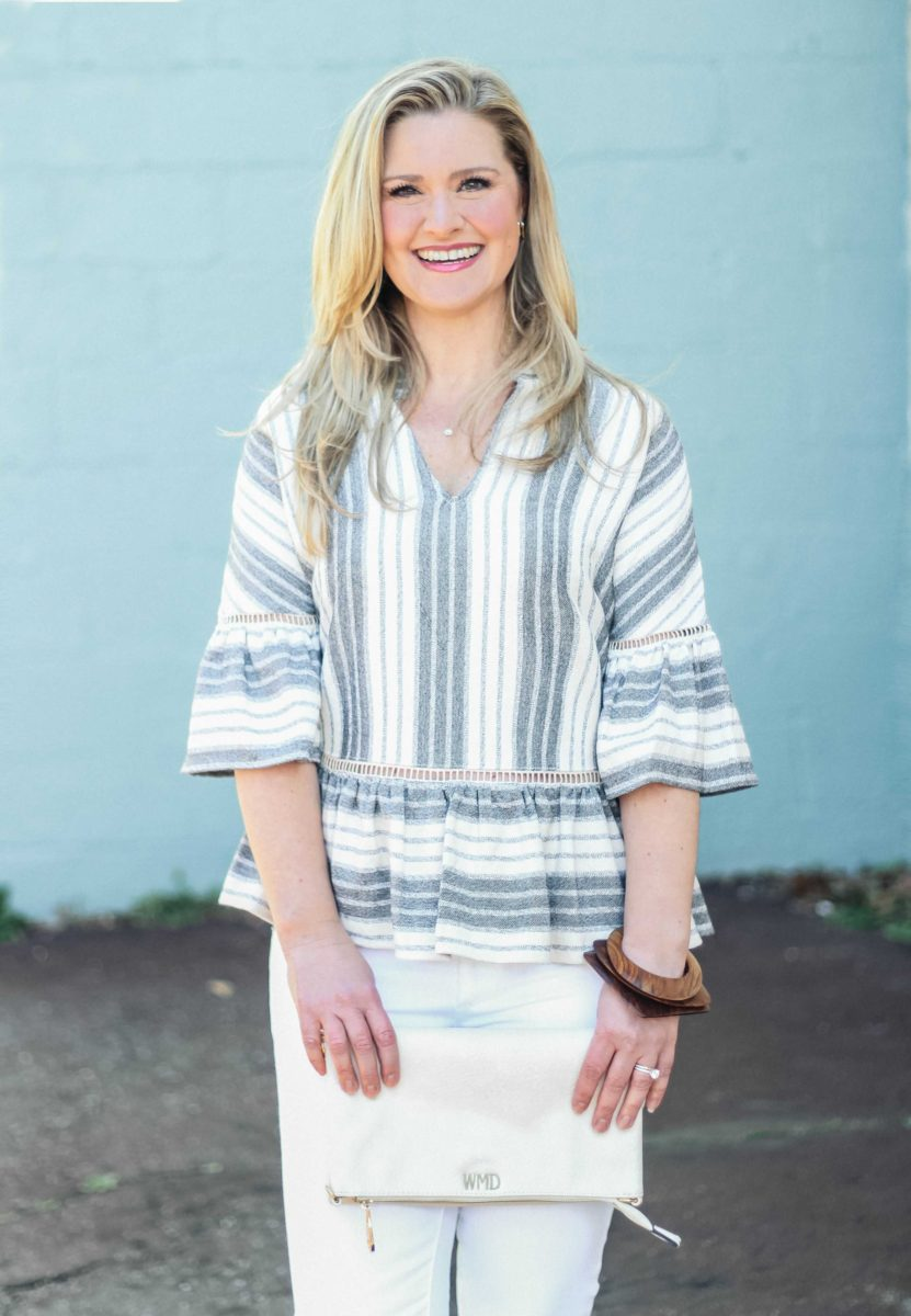 The Cutest Striped Peplum Top