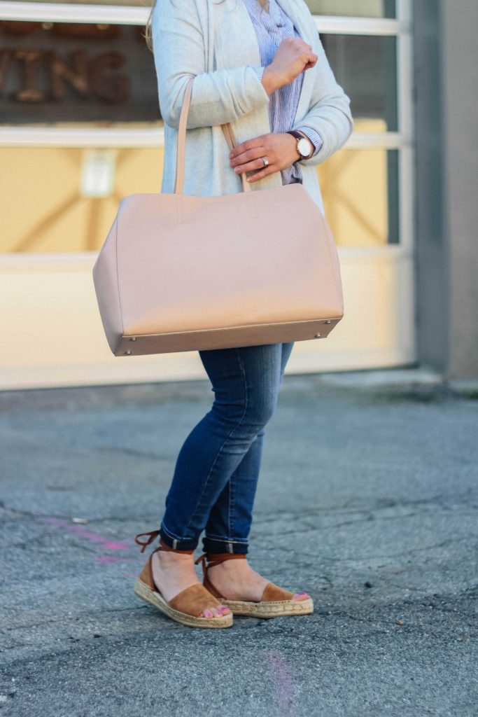 The perfect pink tote for spring.