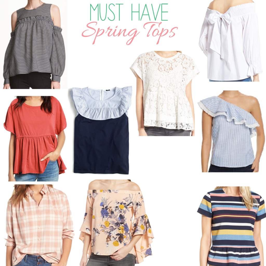 The cutest Spring tops that are a must have as we go into the warmer season.