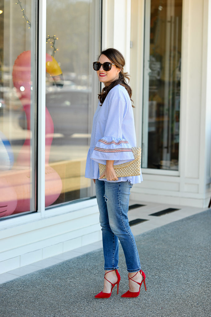 Spring date night outfit idea via Peaches In A Pod blog.