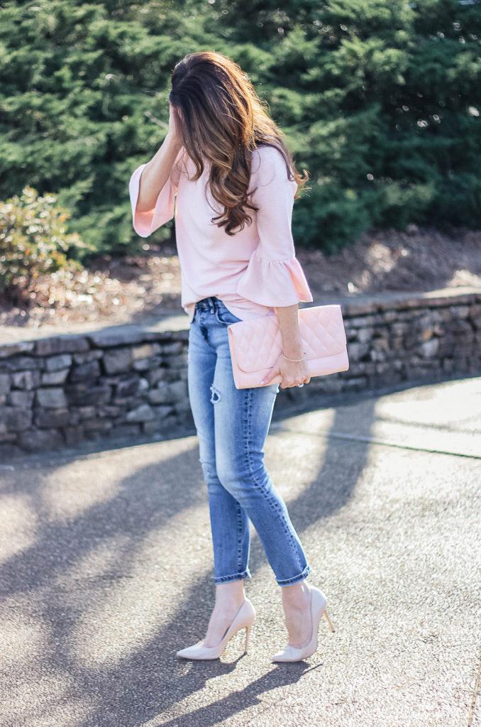 Women's spring fashion idea via Peaches In A Pod blog.