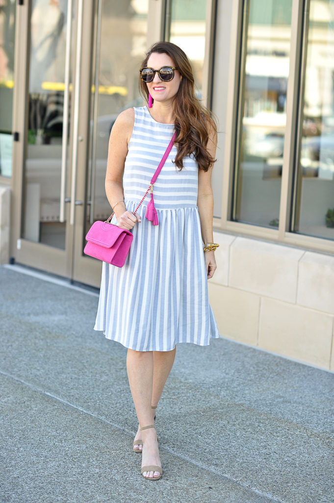 How to style a sundress for spring via Peaches In A Pod blog.