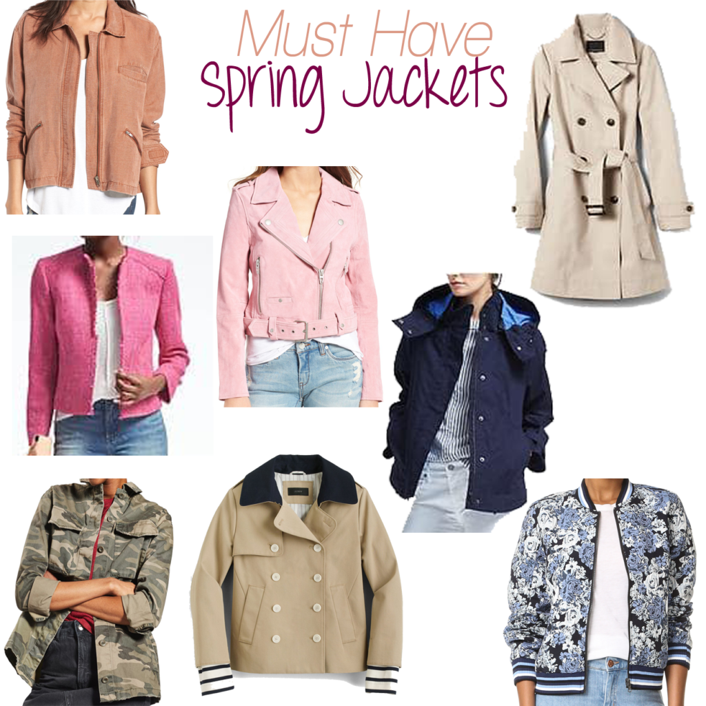 Cute Spring jackets that are perfect to transition into the warmer weather.