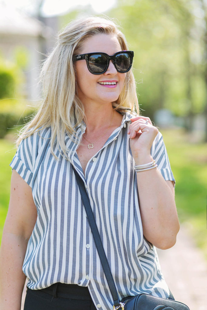 madewell central shirt that is the perfect top for Spring and summer.