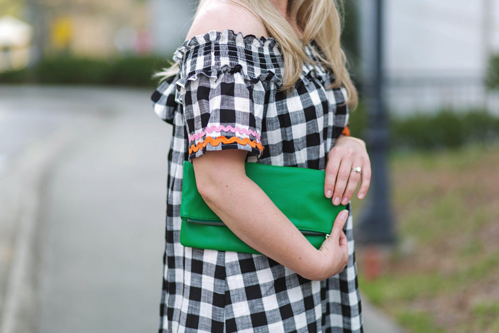 The perfect green clutch that goes well with so many Spring styles.