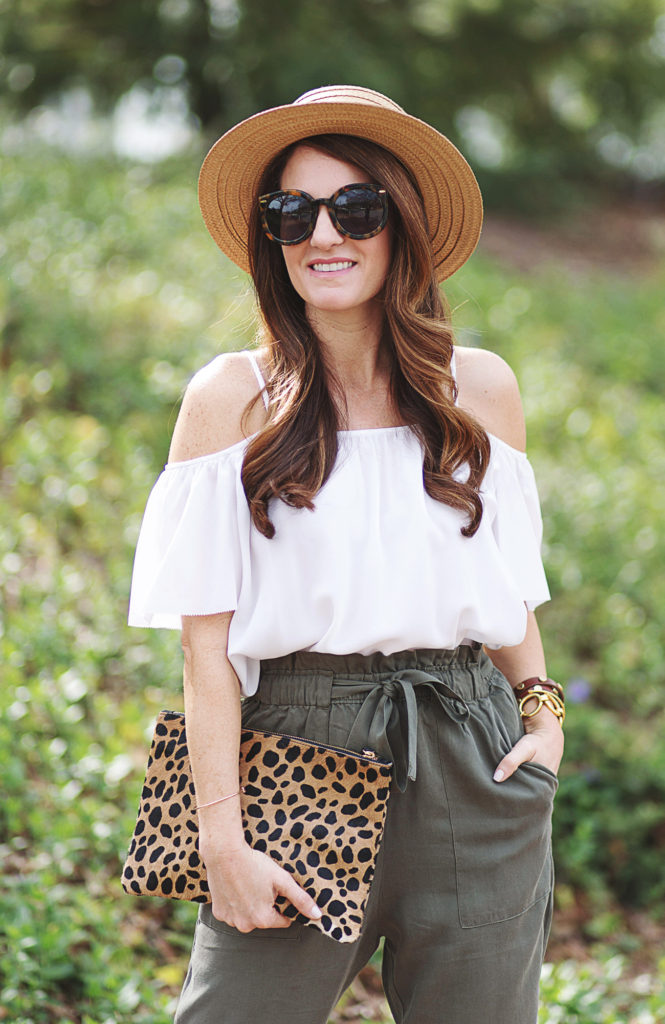 How to wear a boater hat via Peaches In A Pod blog. We love this straw boater hat for women.