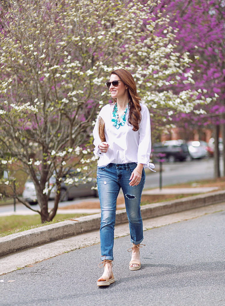 Women's Spring fashion via Peaches In A Pod blog.