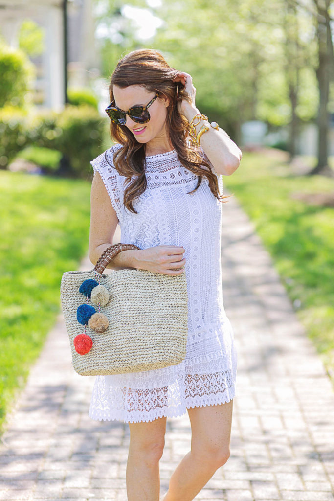 Kayu Bell Tote via Peaches In A Pod blog. The perfect straw tote for summer.
