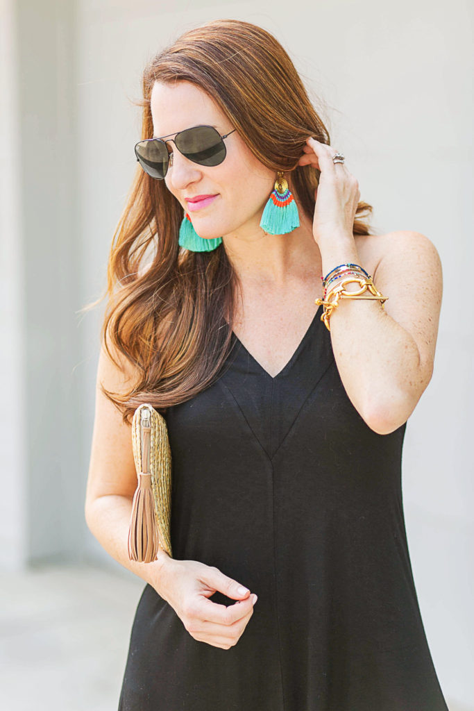 Cute fringe earrings via Peaches In A Pod blog