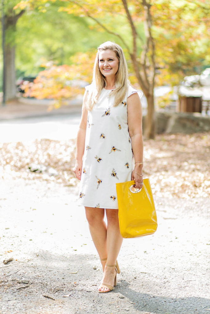 bee print dress that is perfect for summer.