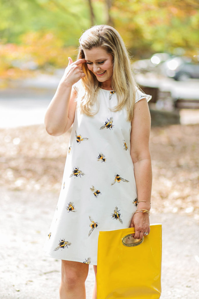 Victoria Beckham for Target bee print dress that is perfect for summer
