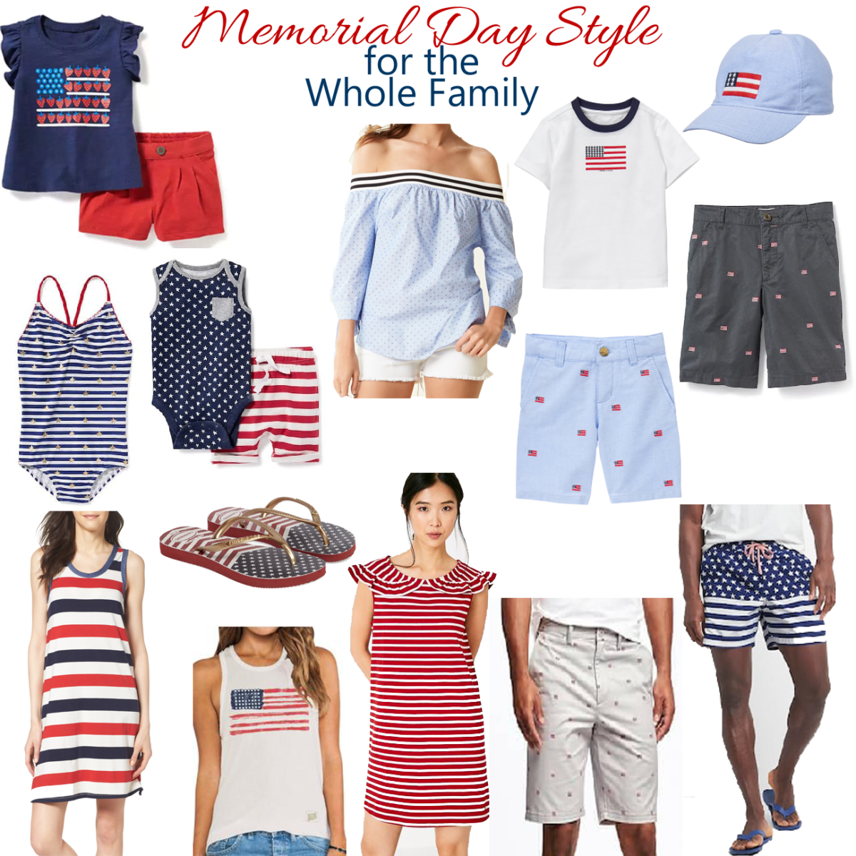 Cute Memorial Day Outfits for the Whole Family