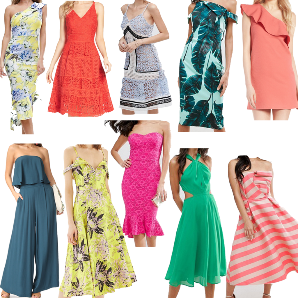 What to wear to a summer wedding. Find the perfect wedding guest dress. How to wear color to a wedding.