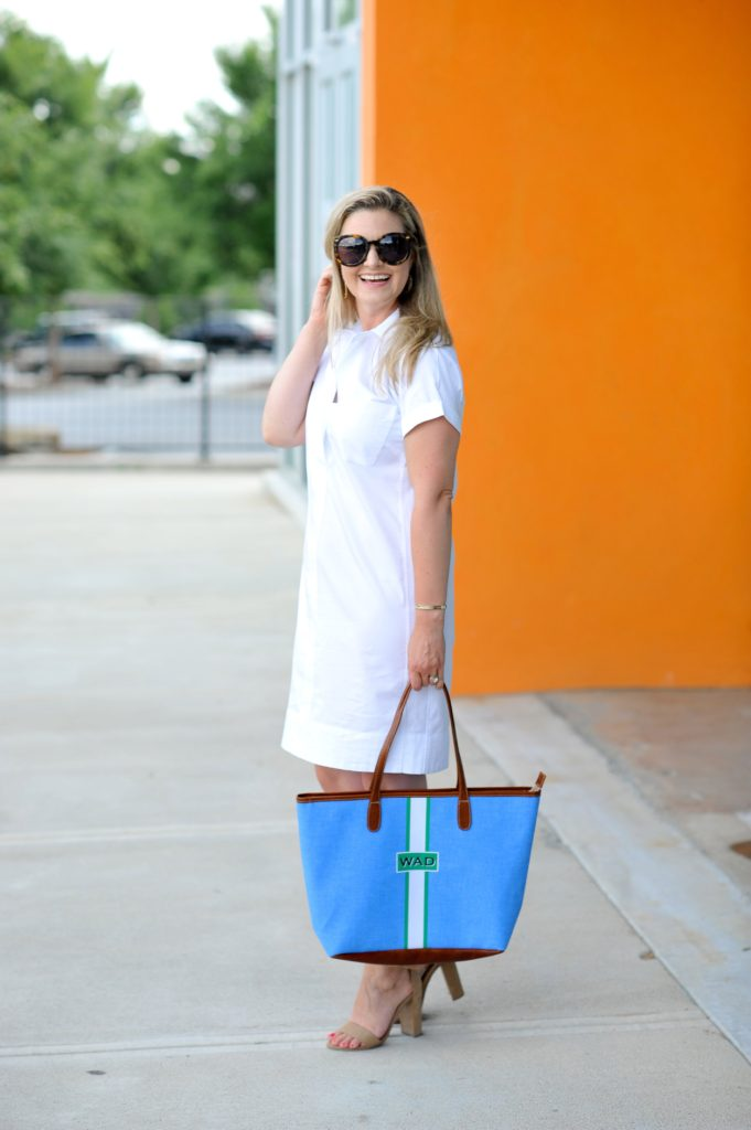 Cute white dress that is perfect for petites.